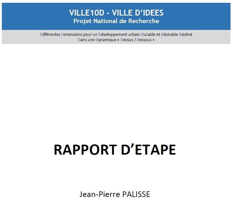 Rapport d'étape du Projet National VILLE 10D : Propositions et recommandations pour lever les obstacles à l'usage urbain du sous-sol